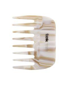 Afro Pick Comb - Rhodoid White - Tek