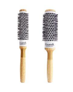 Ceramik Antibacteric Professional Round Brush - Natural - Tek