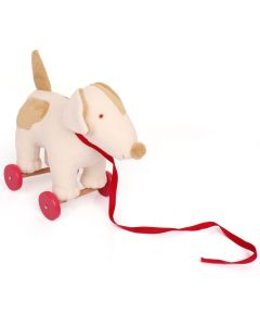 Dog on Wheels Pull Toy - Trousselier